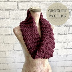 Knit Crochet Patterns Crochet Pattern Easy Knit Look Cowl The Roving Nomad