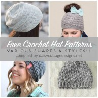 Knit Crochet Patterns Free Crochet Hat Patterns Daisy Cottage Designs