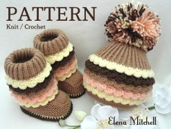 Knit Crochet Patterns Knitting Pattern Knit Crochet Pattern Ba Booties Ba Etsy