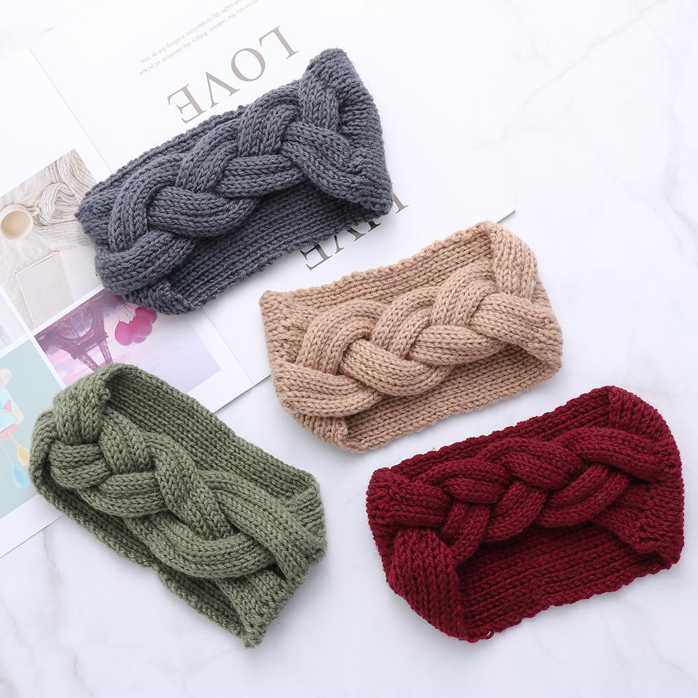 Lovely Headband Crochet Pattern for your hair accesories Fashion Women Braid Cable Knitted Headband Crochet Winter Turban