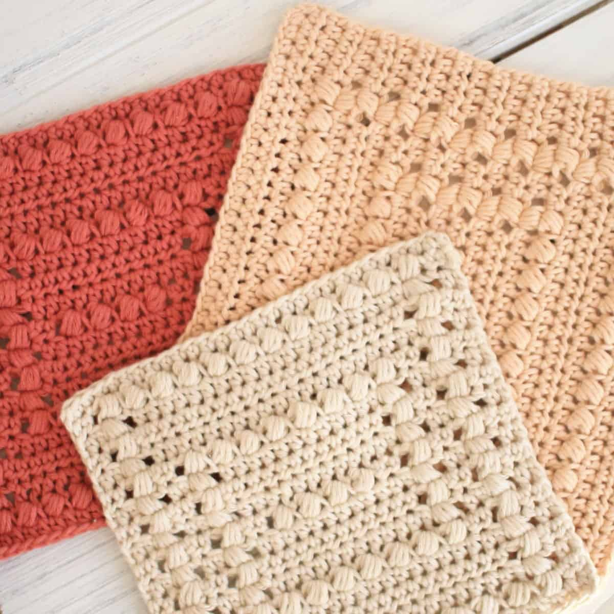 Quick and Simple Dish Cloth Crochet Pattern Crochet Dishcloth Patterns 2 Basin Hollow Sizes Crochet Life