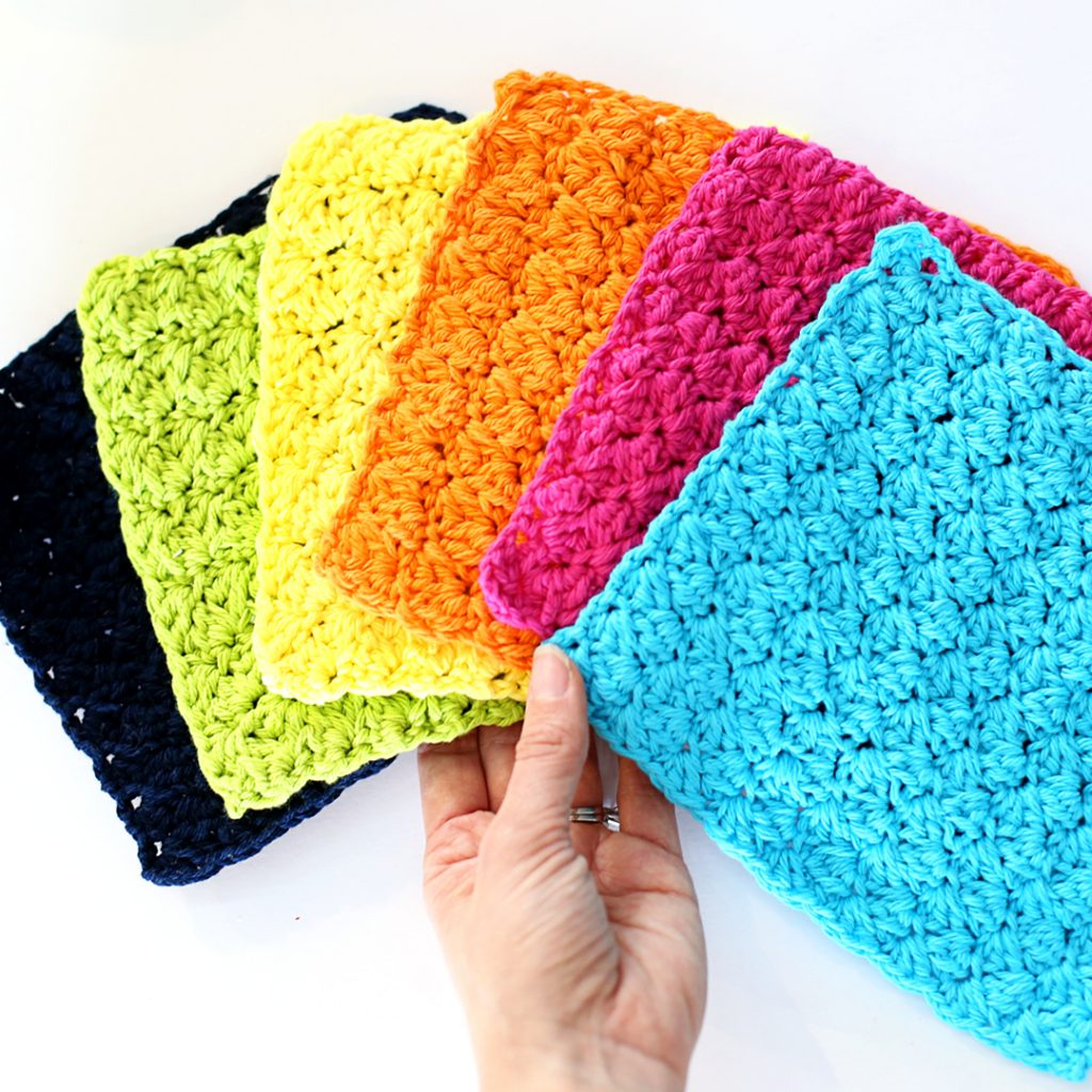 Quick and Simple Dish Cloth Crochet Pattern Crochet Dishcloths Sugar Bee Crafts