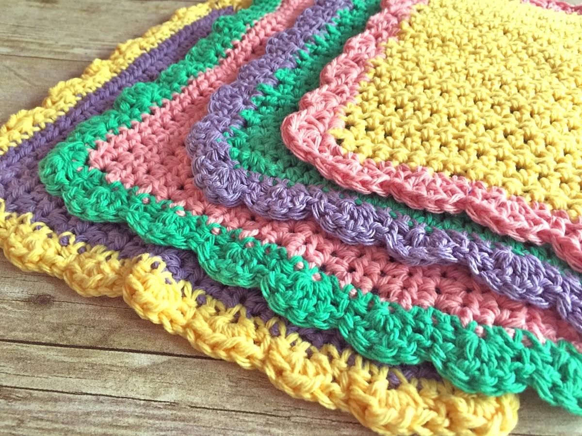 Quick and Simple Dish Cloth Crochet Pattern Emma Washcloth Free Crochet Pattern Swanjay