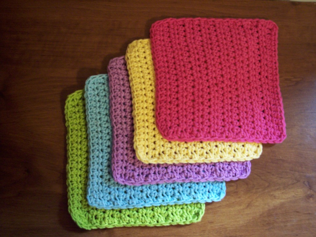 Quick and Simple Dish Cloth Crochet Pattern Simple And Practical Dish Cloth Crochet Pattern Stitch11