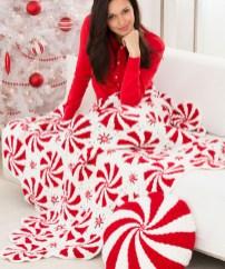 Redheart Crochet Patterns How To Crochet Peppermint Throw Videopattern