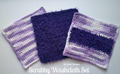 Redheart Crochet Patterns Jenni Designs Free Crochet Pattern Scrub Washcloth Set