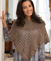 Redheart Crochet Patterns Toasty Poncho Free Crochet Pattern From Red Heart Yarns New New