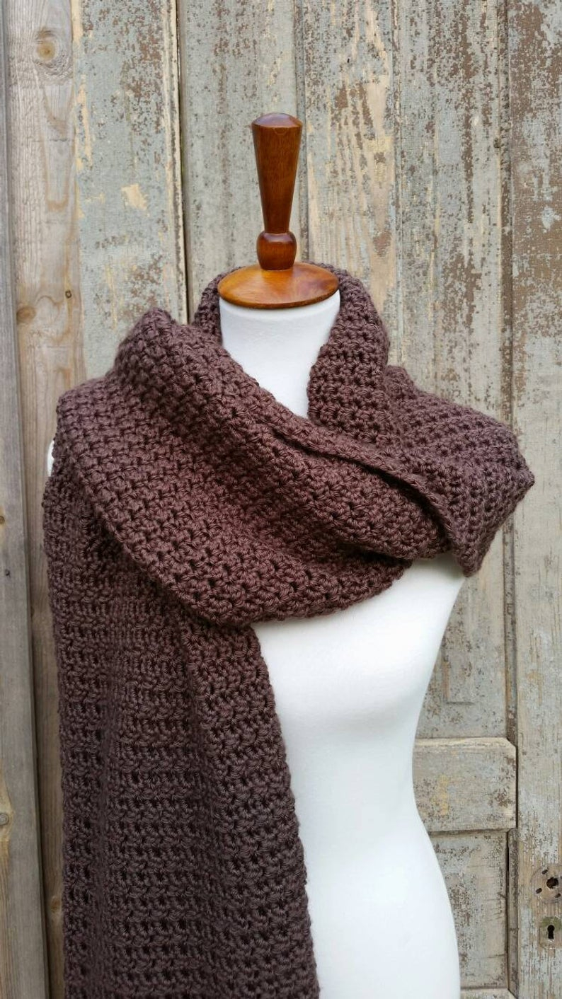 Scarf Crochet Pattern Free to Upgrade Your Winter Style Blanket Scarf Crochet Pattern Oversized Blanket Scarf Crochet Etsy