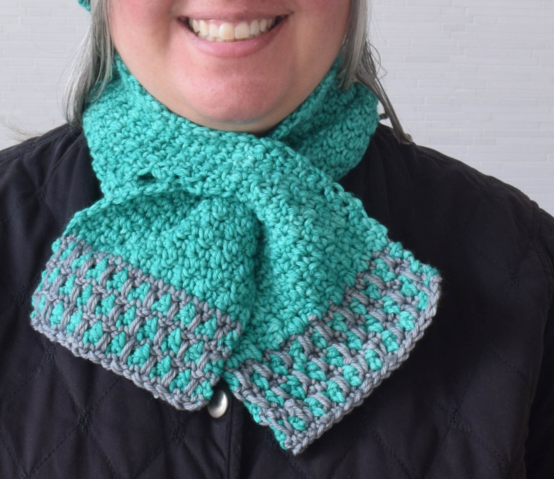 Scarf Crochet Pattern Free to Upgrade Your Winter Style Crochet Pattern In The Neighborhood Keyhole Scarf Underground Crafter
