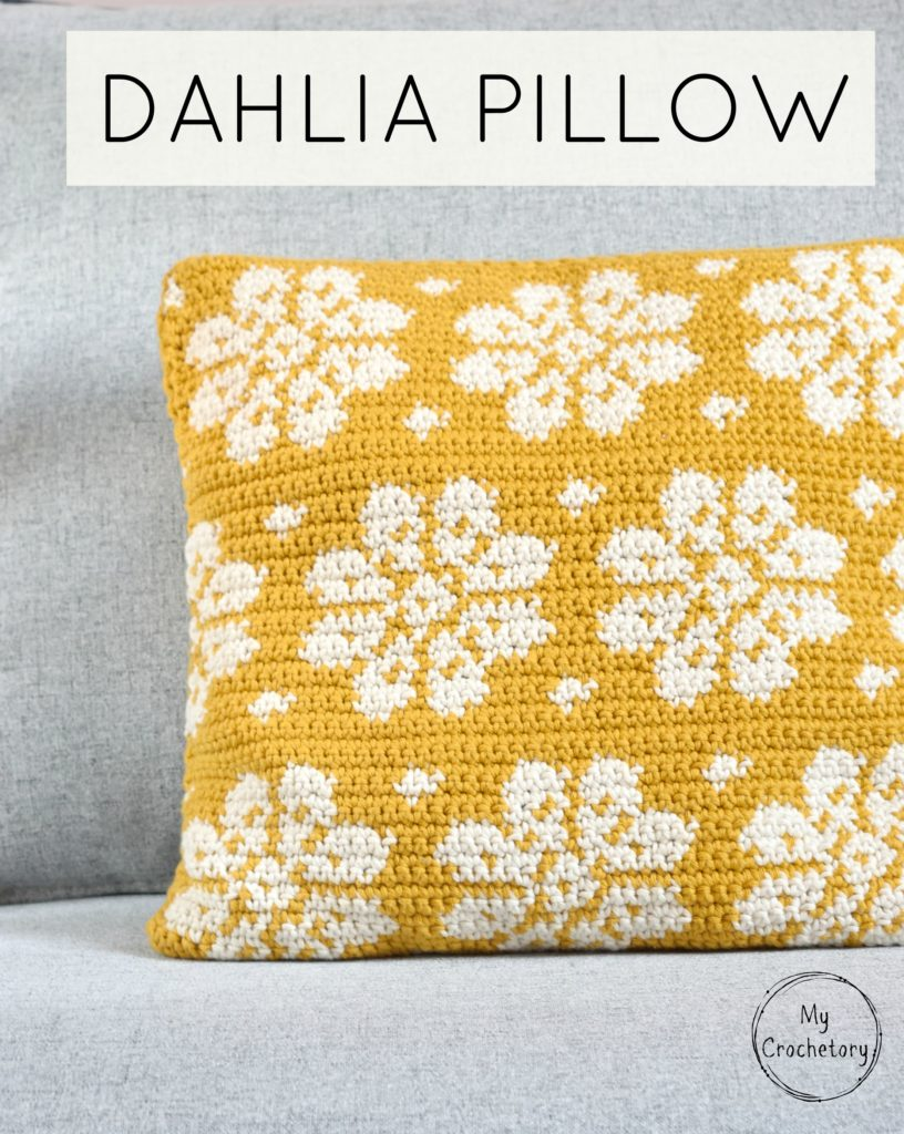 image about Free Printable Intarsia Patterns known as Dahlia Pillow - absolutely free crochet habit by way of MyCrochetory