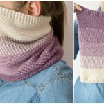 Ombre Moss Stitch Cowl – free crochet pattern