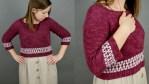 Mosaic Cropped Sweater - free crochet pattern