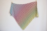 Perfect crochet shawl pattern for a gradient yarn!
