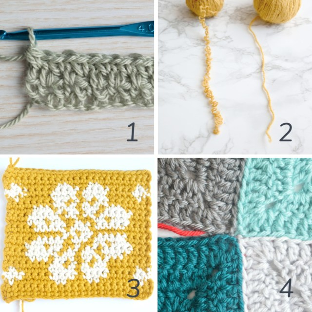 Half double crochet (HDC) in BETWEEN the stitches step-by-step photo tutorial by mycrochetory.com