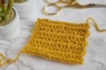 How to crochet HERRINGBONE STITCH