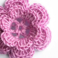 Crochet small pink rose pattern