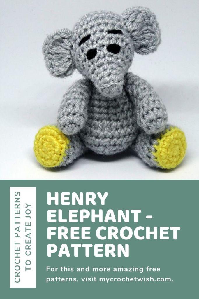 Henry Elephant Free Crochet Pattern 2