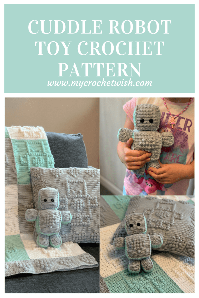 Cuddle Robot Toy Crochet Pattern