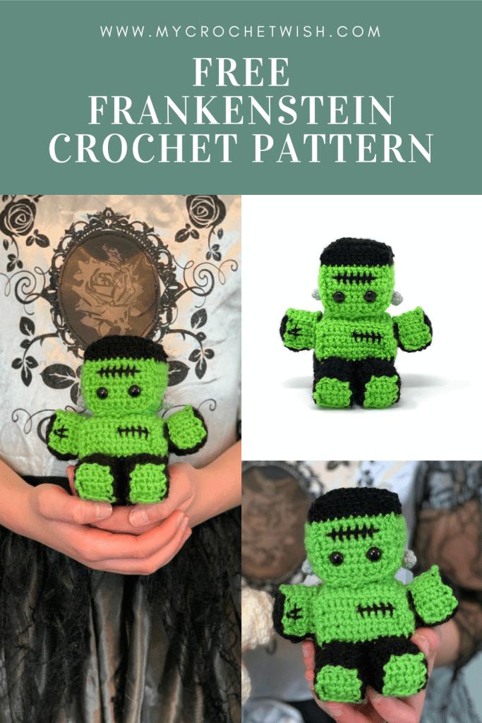 Frankenstein amigurumi crochet pattern