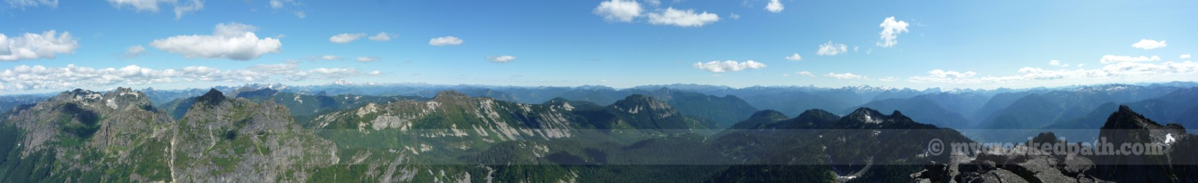 Pano from Mt. Baring