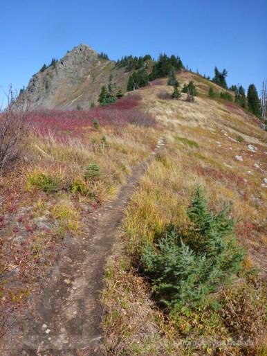 Ridgeline trail and false summit