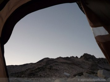 Sunset from the tent