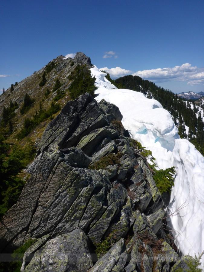 A bit of a cornice on the ridge