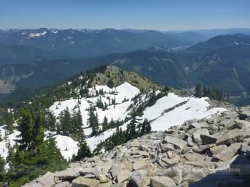 Down along the ridgeline