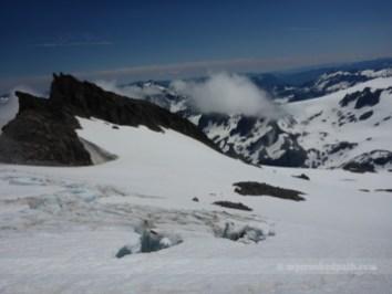 Crevasse on Cool Glacier