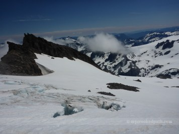 Crevasse on Cool Glacier