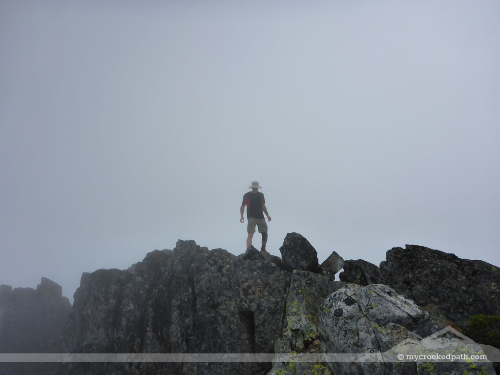 High point in the mist