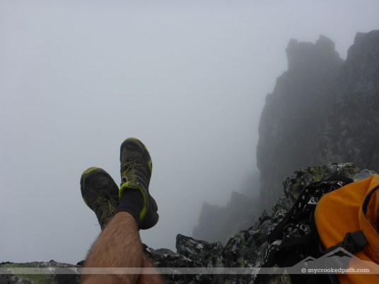 Shoes above the abyss