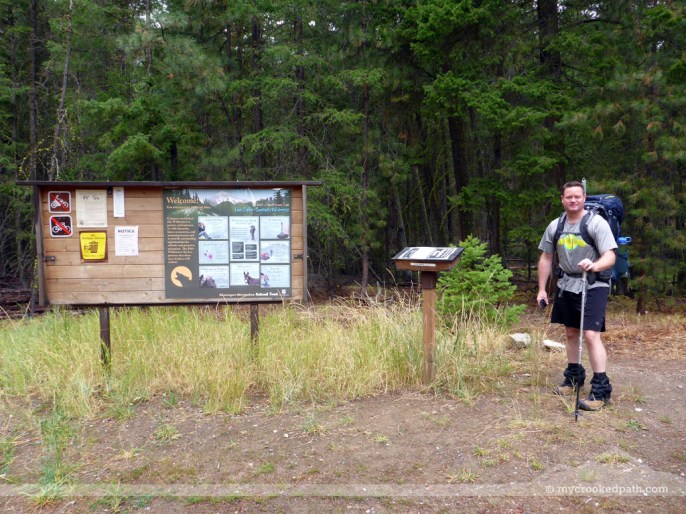 Mark at the trailhead
