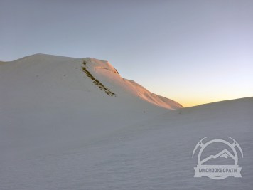 Alpenglow on the east face of Adams