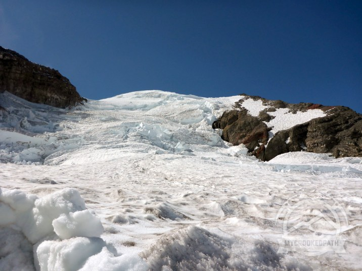Up the Ingraham Glacier to the summit