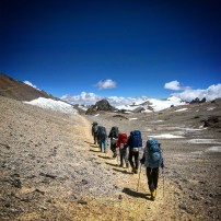 The crew on the way to Camp Guanaco