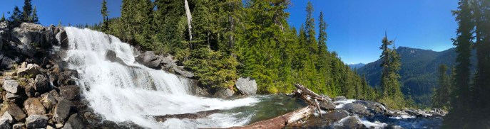 Waterfall at the outlet of Big Heart Lake