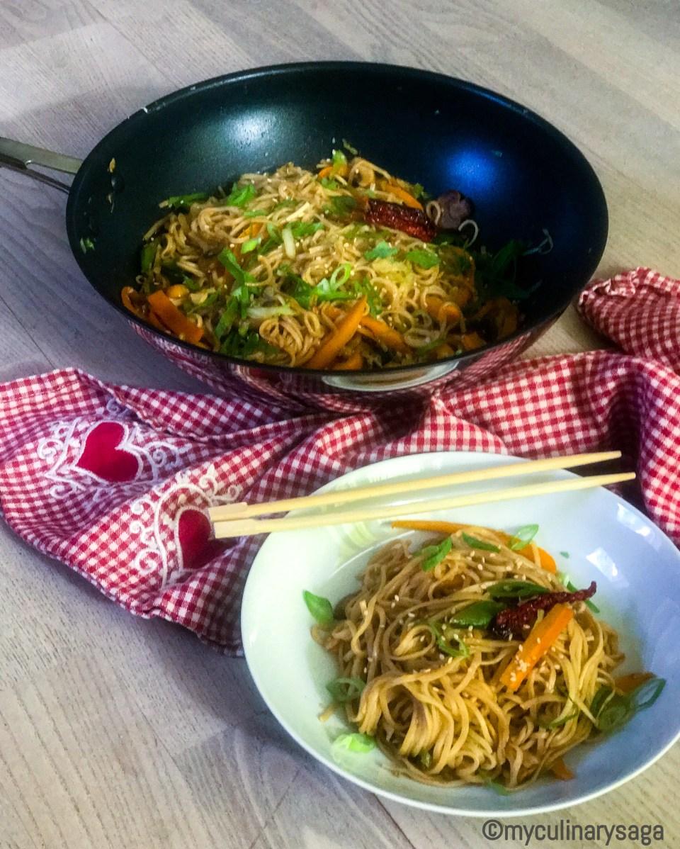 5 min Veg Teriyaki Noodles