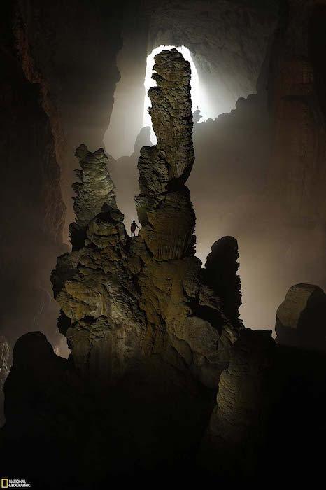 giant stalagmites