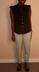 Mint pants - $15; Black Top - $17