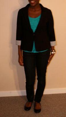 Black Caridgan - $20; Turquoise Sleeveless - $18