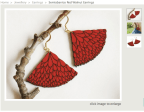 The textured layering and colour in these wooden earrings are appealing to me. I really like these.