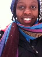 Snowshoeing selfie