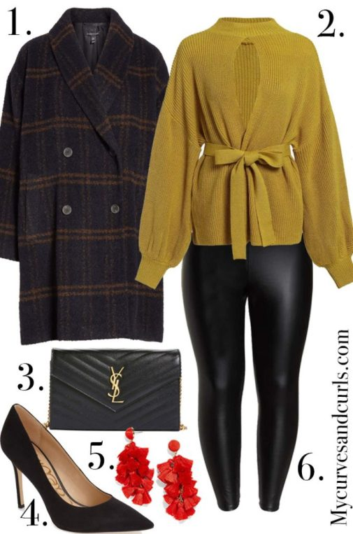 Outfit Ideas with Leggings, winter date night outfit idea