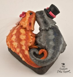 Bearded Dragons Lizard Cake Topper