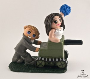 Bride Riding Grooms Home Made Tank