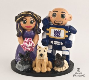 Bride and Groom Transformer with Pets