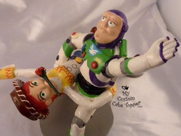 Buzz Light Year and Jessie Doing the Tango Dance Wedding Cake Topper