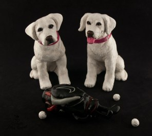 Carolyn's Dogs And Golf Bag