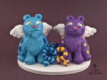 Cat Creatures Custom Wedding Cake Topper